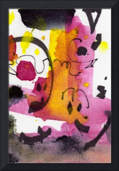 Intuitive Abstract Pink Black Gray