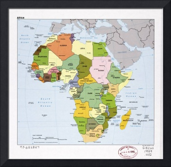 Map of Africa (1989)