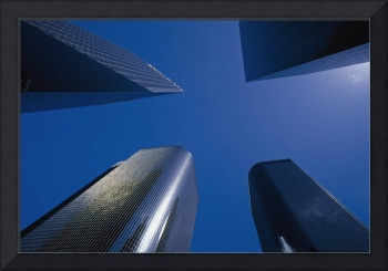 Low Angle View Of Skyscrapers In Los Angeles