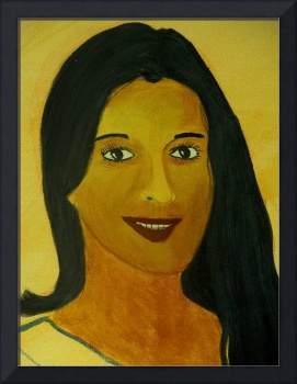 Oil on Canvas - Portrait of Suyasha..!!