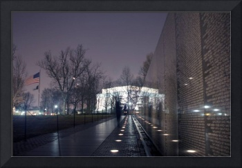 vietnam veterans memorial wall and lincoln memoria