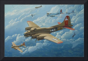 B-17 Flying Fortress painting - 'The Man'O War II'
