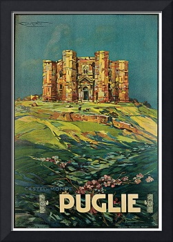 Vintage Puglia Italy Castle Travel