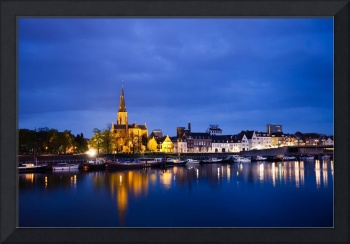 Maastricht, Sint-Martinuskerk And Maas River