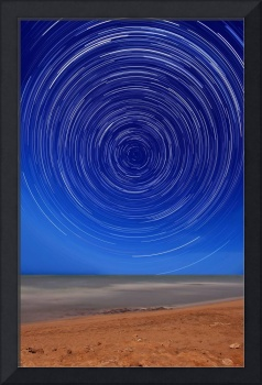 Star trails around the south celestial pole at the