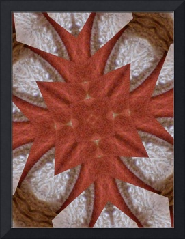 Red Brown Kaleidoscope Art 2