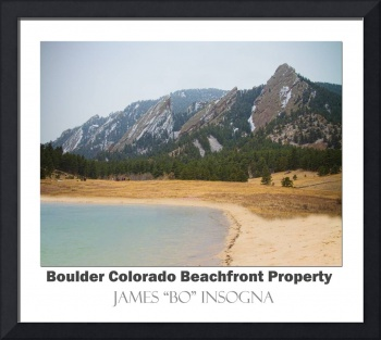 Boulder Flatirons Beachfront Property Poster Wht