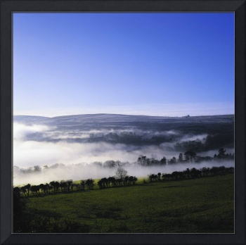 Mist over County Antrim, Ireland