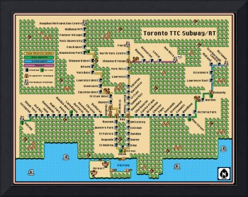 Updated Toronto TTC Subway/RT Map: SMB3 Style