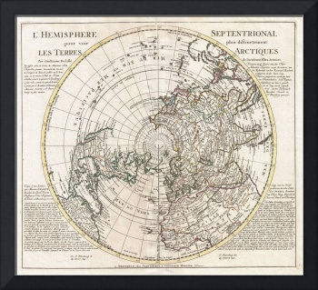 Map of the Northern Hemisphere by Covens-Mortier