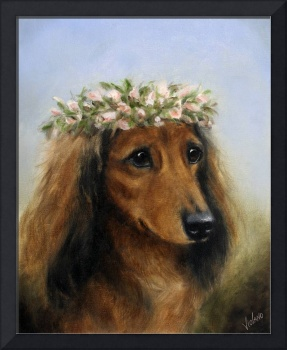 Sweet Pea- flower child dog by Violano