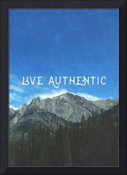 Live Authentic Wall Art