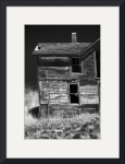 Dilapidated - Ghost Town Okaton South Dakota in BW by Wayne Moran
