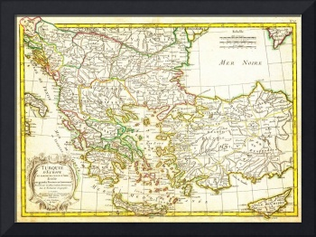 1771 Janvier Map of Greece - Turkey - Macedonia an