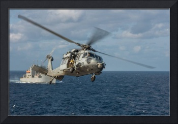 MH-60S Sea Hawk helicopter  Credit US Navy