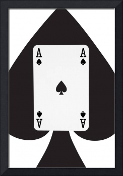 Playing Cards Ace of Spades on White Background