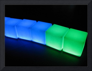 glowing cubes