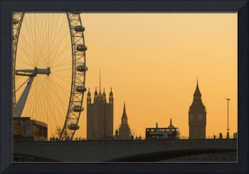 London. Big Ben and London Eye (Alan Copson (C) 20