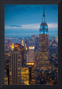 Empire State Blue Night