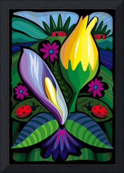 Blooming Water Lillies (Poster)