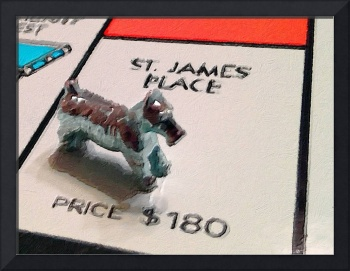Monopoly Board Custom Painting St James Place