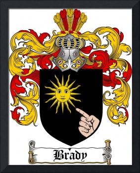 brady family crest brady coat of arms