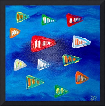 Blue sea and fishes