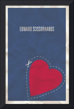 Edward Scissorhands minimalist movie poster