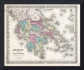 Vintage Map of Greece (1855)
