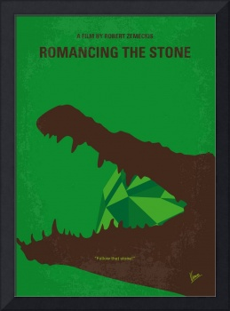 No732 My Romancing the Stone minimal movie poster