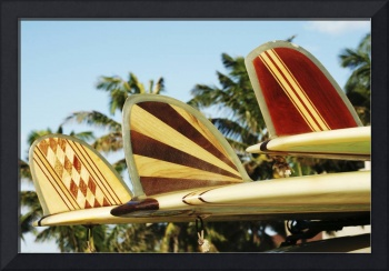 Hawaii, Oahu, Colorful Hawaiian Design Surfboards