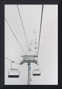 A Chairlift At A Ski Resort, Whistler, British Col