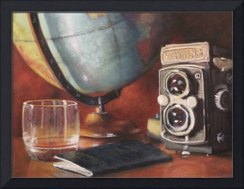 Globe, Passport, and Double Lens Reflex