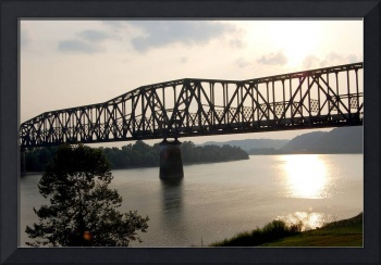 Train Bridge Ohio River
