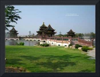 Asian style buildings
