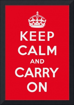 Red Keep Calm And Carry On 3