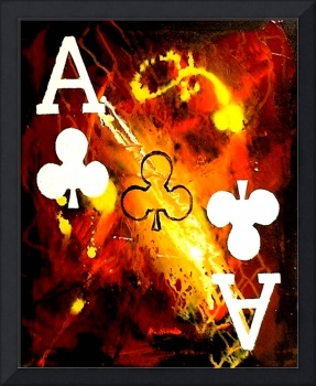 ABSTRACT GALAXY ACES POKER ART OF CLUBS