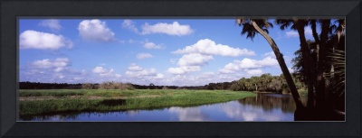 Reflection of clouds in a river Myakka River Myak