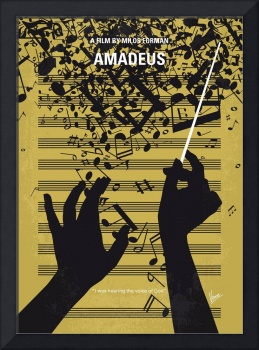 No725 My Amadeus minimal movie poster