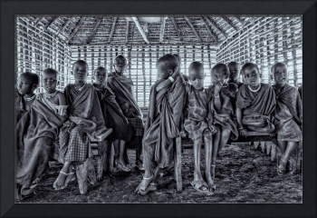 Portrait of Young Maasai Children  4244