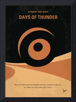 No332 My DAYS OF THUNDER minimal movie poster