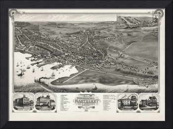 Nantucket Birds Eye View 1881