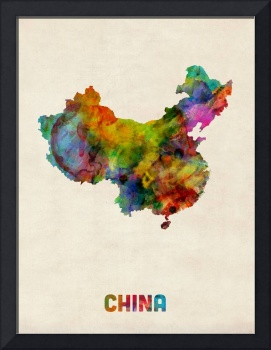 China Watercolor Map