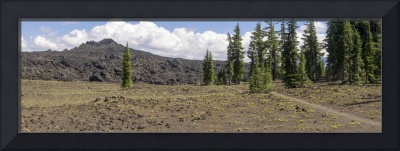 Pacific Crest Trail and Belknap Lava Field
