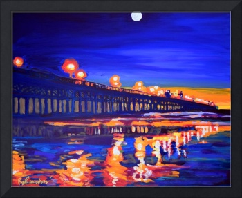 Huntington Beach California Pier at Night