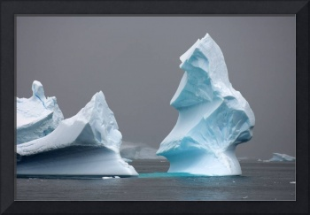 Iceberg floating off the Western Antarctic Peninsu