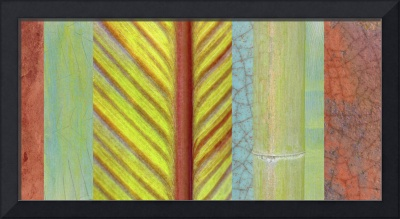 Red & Green Leaf Collage