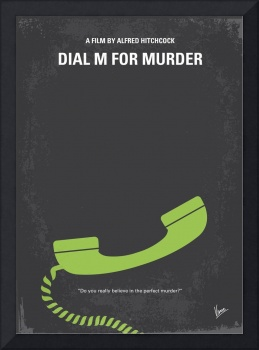 No328 My Dial M for Murder minimal movie poster