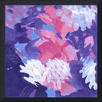 Abstract Field of Flowers