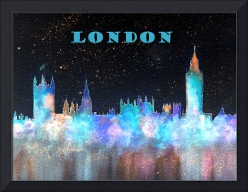 London Skyline With Banner
